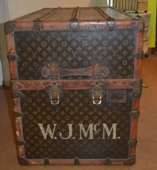 Early 1900 ' s Louis Vuitton Upright Wardrobe Trunk 3