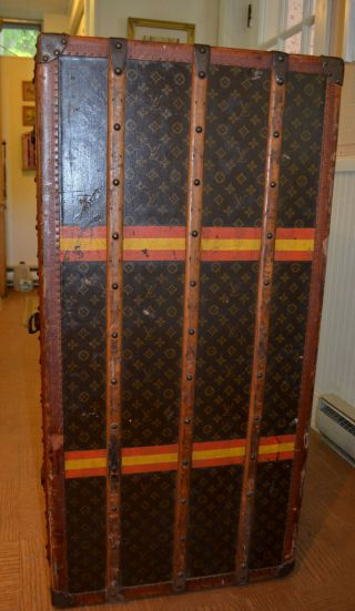Early 1900 ' s Louis Vuitton Upright Wardrobe Trunk 4