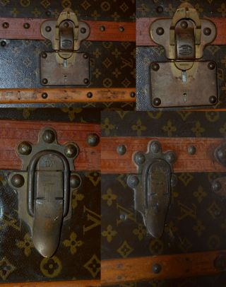 Early 1900 ' s Louis Vuitton Upright Wardrobe Trunk 9