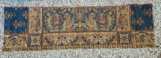 """99 """" Antique French,  Rare Fragment Of Aubusson Tapestry Renaissance Early 19th"""