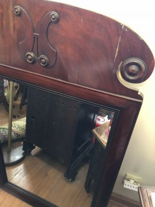 Antique Tall Boy,  Dresser,  Bed And Mirror
