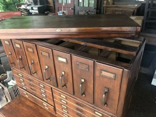 Antique Oak Lawyer Barrister Stacking Bookcase Filing Cabinets 7