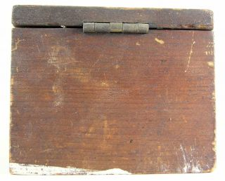 Antique Wooden Pine Bee Lining Or Hunting Box Apiary Beekeeping Farmer Made 12