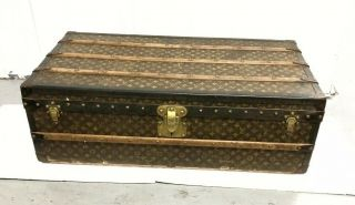 Lv Louis Vuitton Antique Monogram Travel Wardrobe Trunk Luggage Lv C.  1910/ 20thc