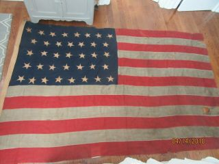 """1867 37 Star Flag,  96 """" By 60 """""""