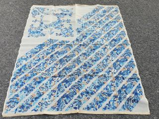 Large Antique Chinese Embroidery Textile 90 Cm X75 Cm
