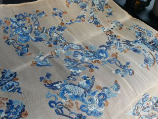 Large antique Chinese embroidery textile 90 cm x75 cm 2
