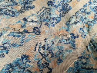 Large antique Chinese embroidery textile 90 cm x75 cm 6