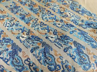 Large antique Chinese embroidery textile 90 cm x75 cm 7