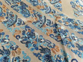 Large antique Chinese embroidery textile 90 cm x75 cm 8