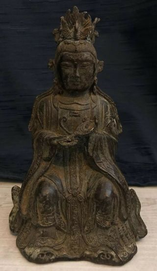 Antique Chinese Bronze Buddha - Possibly Ming Or Qing Dynasty