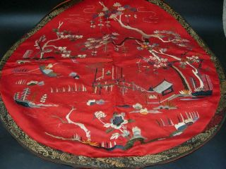 LARGE GROUP OF ANTIQUE CHINESE EMBROIDERED SILK PANELS 12