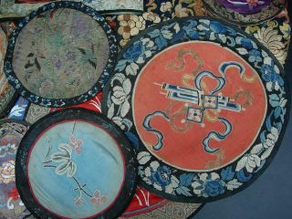 LARGE GROUP OF ANTIQUE CHINESE EMBROIDERED SILK PANELS 6
