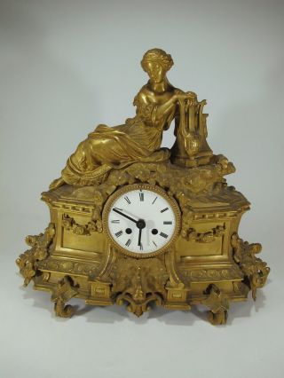 19th C French Gilt Bronze Clock Structure D8548