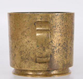 Chinese Ming or Early Qing Bronze Censer Incense Burner Cup Form Xuande Mark 6