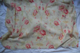 Over 2 yds French floral print fabric,  from an unpicked quilt/bouti,  circa 1900 6