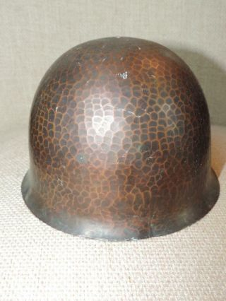 Authentic OLD As Found Signed ROYCROFT Arts Crafts Hammered Helmet Lamp NO RES 3