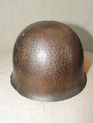 Authentic OLD As Found Signed ROYCROFT Arts Crafts Hammered Helmet Lamp NO RES 4