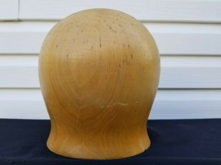 "Wood Wooden Hat Block Head Style Form Display Mold Millinery 21 "" 1/2"