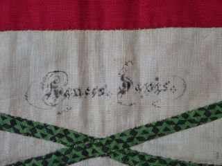 Antique Dated 1847 Signed Baltimore Album QUILT Bird Floral Prussian Stuffed 9