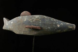 190614 - Tribal Very Rare And Old African Ijo Fish Figure - Nigeria.