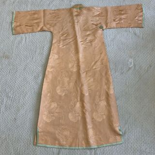 Vintage 1930s Chinese Patterned Silk Damask Cheongsam Qipao Art Deco Shanghai 3