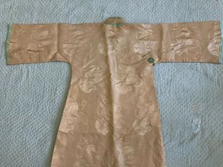 Vintage 1930s Chinese Patterned Silk Damask Cheongsam Qipao Art Deco Shanghai 8