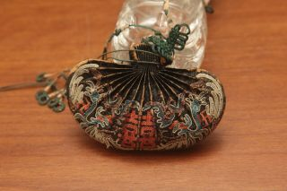Chinese Qing Dynasty Silk Hand Stitch Embroidery Purse