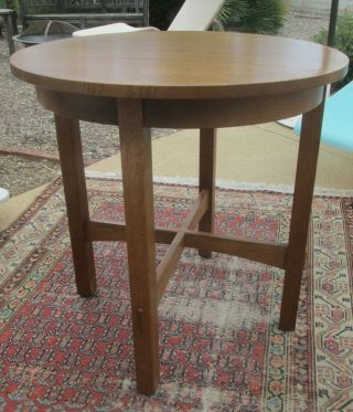 Gustav Stickley Living Room Round Lamp Table 89 - 536 Arts & Crafts
