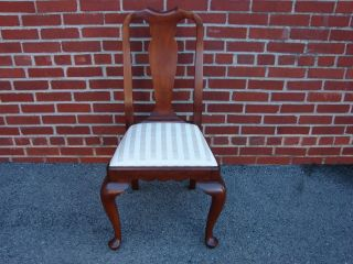 Henkel Harris Solid Cherry Queen Anne Style Dining Side Chair 2