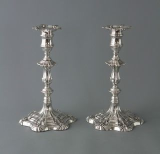 A Very Good Silver Table Candlesticks Sheffield 1839