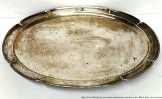 Antique Kalo Shop Hand Wrought Hammered Sterling Silver Arts Crafts Tray Mohr