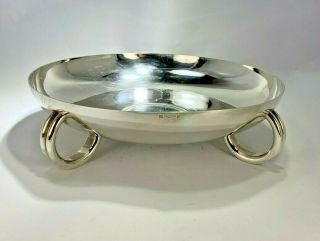 Elegant Art Deco Christofle French Four Footed Center Piece Silver Plated Bowl