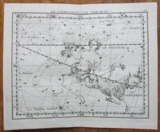 Flamsteed Astronomy Celestial Map Capricorn Aquarius - 1776