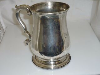 Antique 1763 8.  9 Oz Sterling Silver Tankard George Iii Era Maker Whipham Wright