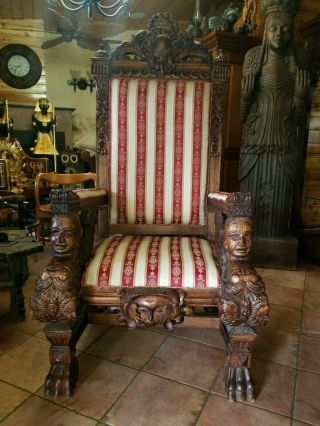 Imperial Chair Throne Solid Wood