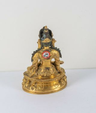 Chinese Antique Ching Dynasty Gilt Bronze Figure Of Buddha,  Kuangxu Period 3
