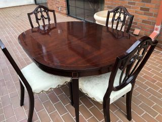 KINDEL Federal Inlaid Mahogany Dining Room Table - IT IS A STEAL 3