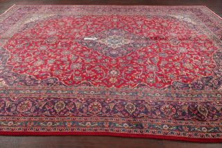 Semi - Antique Traditional Floral Living Room Rug Hand - Made Wool Carpet 9