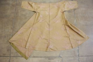 Antique Chinese Robe Qing Dynasty Asian Silk Jacquard Medallions Crane 1900s 20s