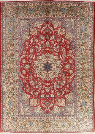 Traditional Oriental Rugs Wool Hand - Knotted Floral Home Decor 10x14 Top Quality