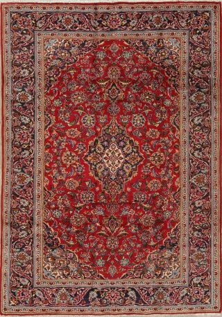 Traditional Persian 6 X 9 Wool Handmade Floral One - Of - A - Kind Oriental Area Rug