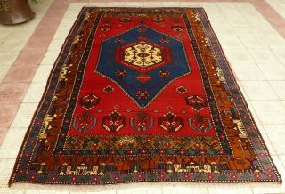 Rare 1950s Antique Caucasian One - Of - A - Kind Turkish Kazak Handmade Rug 7 X 10ft
