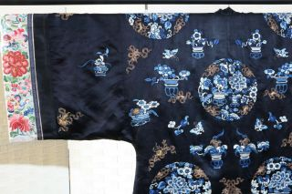 CHINESE EMBROIDERED SILK ROBE 19THC 7