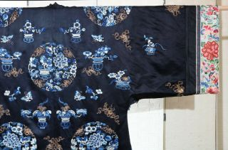 CHINESE EMBROIDERED SILK ROBE 19THC 8