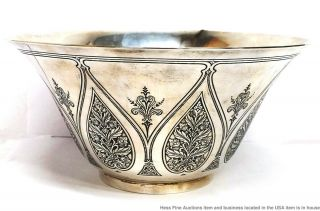 Tiffany Co Antique Arts Crafts Sterling Silver Massive Heavy Centerpiece Bowl 2