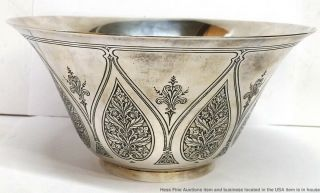 Tiffany Co Antique Arts Crafts Sterling Silver Massive Heavy Centerpiece Bowl 3