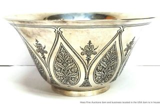 Tiffany Co Antique Arts Crafts Sterling Silver Massive Heavy Centerpiece Bowl 4