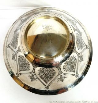 Tiffany Co Antique Arts Crafts Sterling Silver Massive Heavy Centerpiece Bowl 7