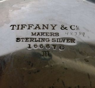 Tiffany Co Antique Arts Crafts Sterling Silver Massive Heavy Centerpiece Bowl 8